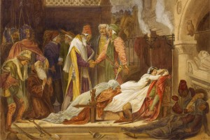 The-Reconciliation-of-the-Montagues-and-Capulets---Frederic-Lord-Leighton